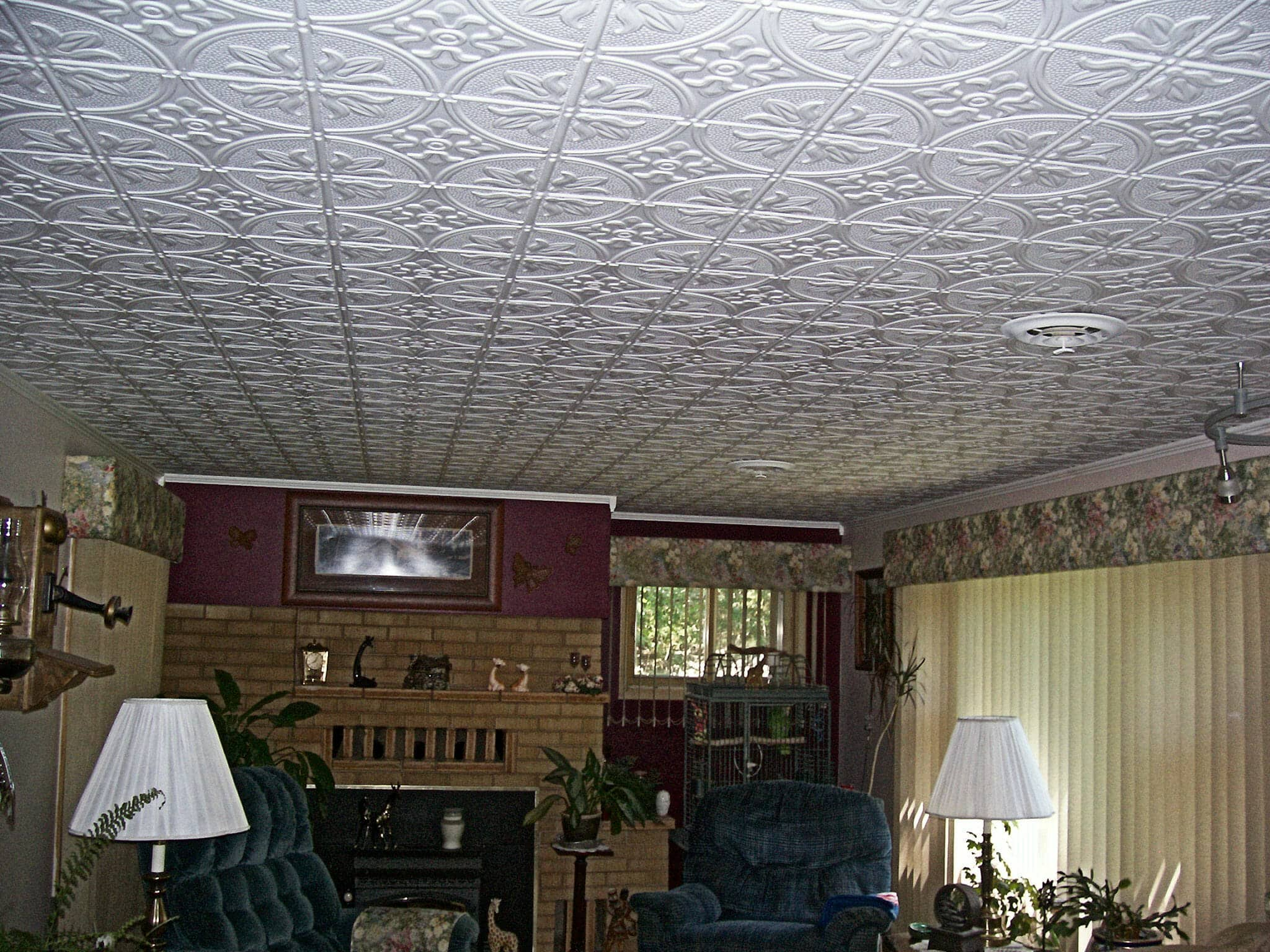 pattern 309 all colors 2x4 faux tin ceiling tile pattern - Faux Tin Ceiling Tiles