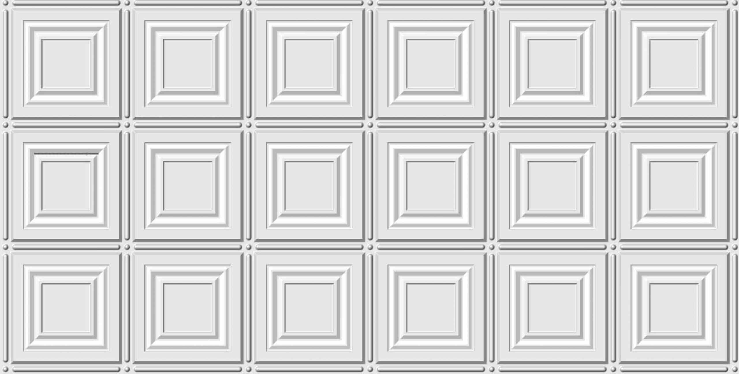 Pattern 306 White 2x4 Faux Tin Ceiling Tile Pattern Global