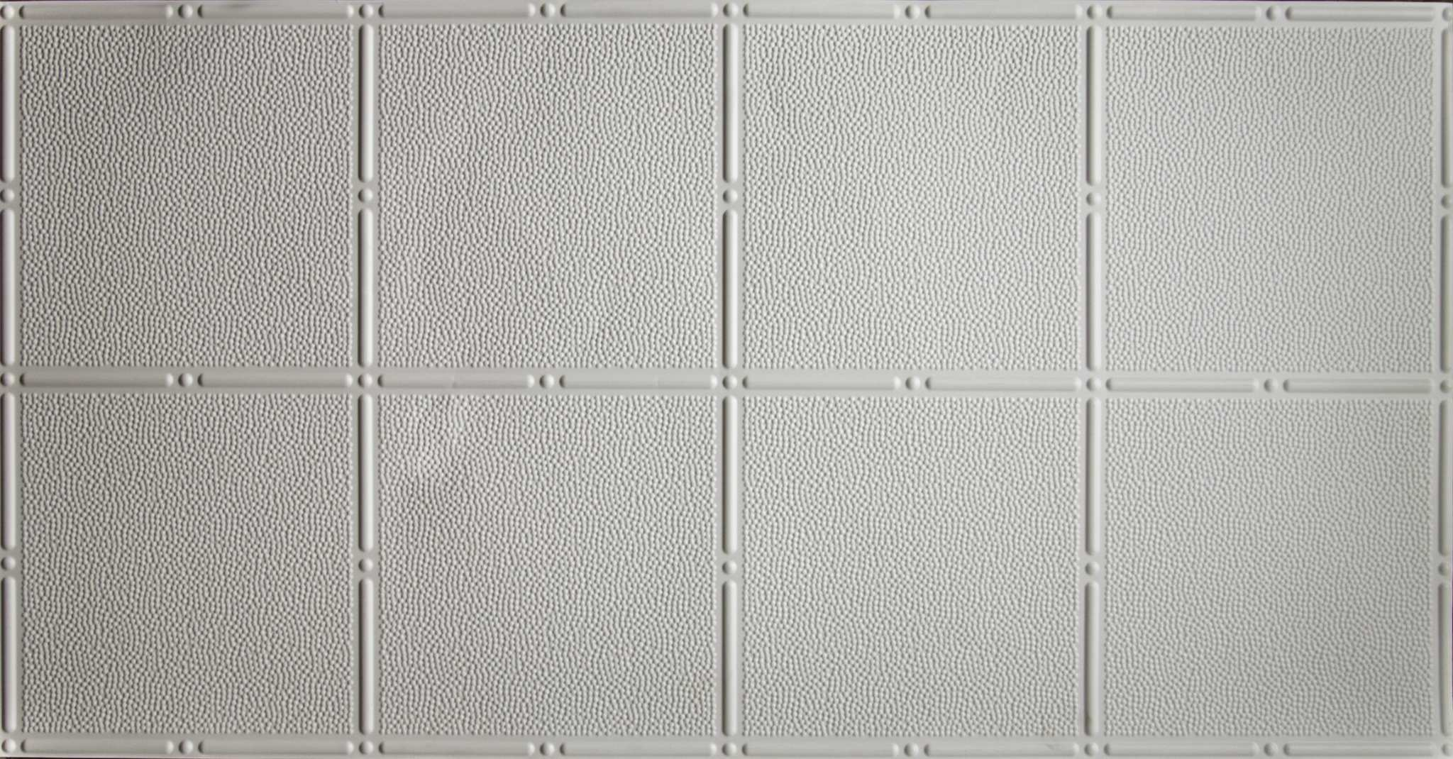 Pattern 310 White 2x4 Faux Tin Ceiling Tile Pattern Global