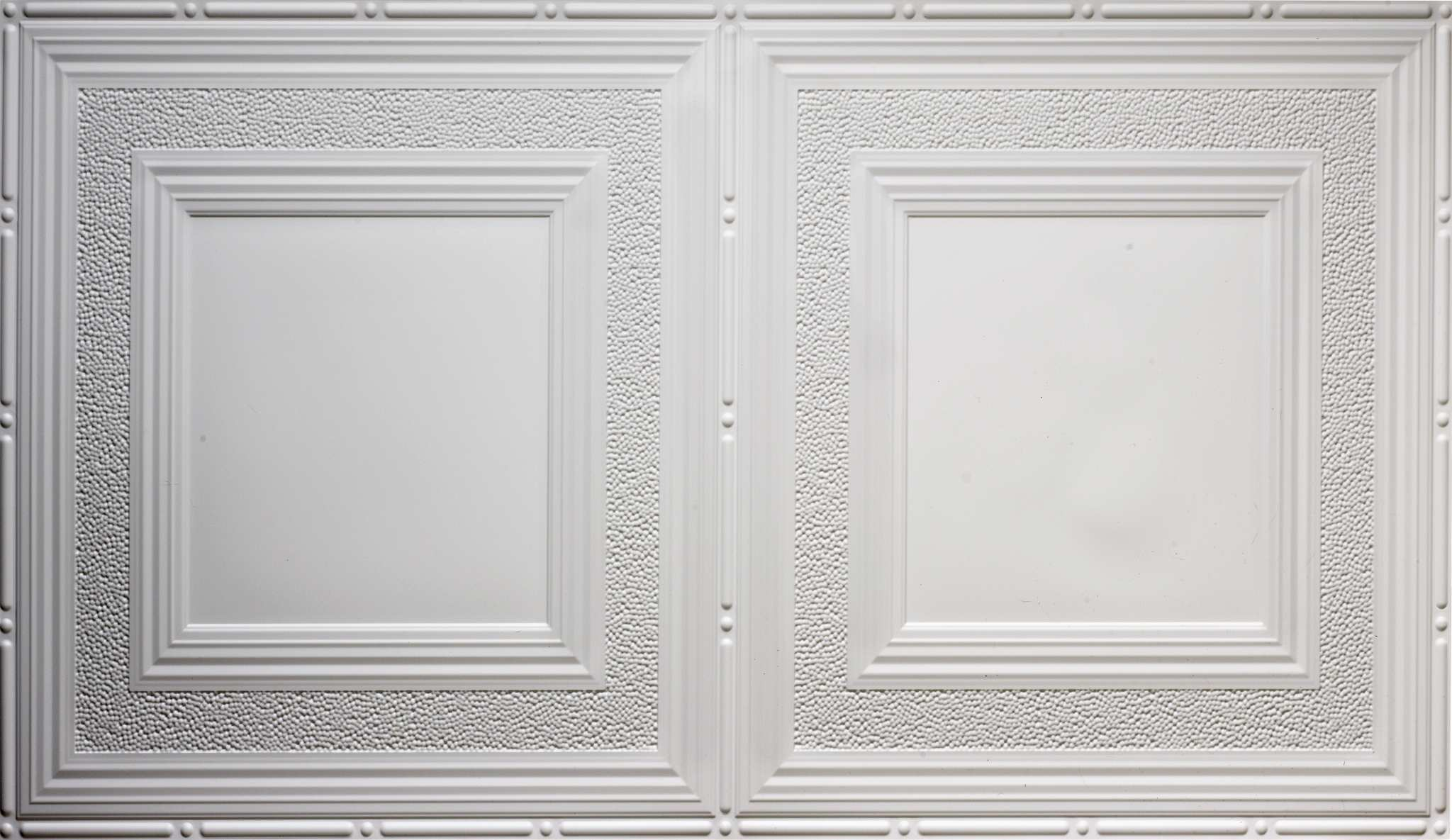 Pattern 509 White And Nickel 2x4 Faux Tin Ceiling Tile Pattern