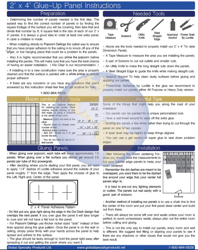 Dimensions faux tin ceiling tile instructions