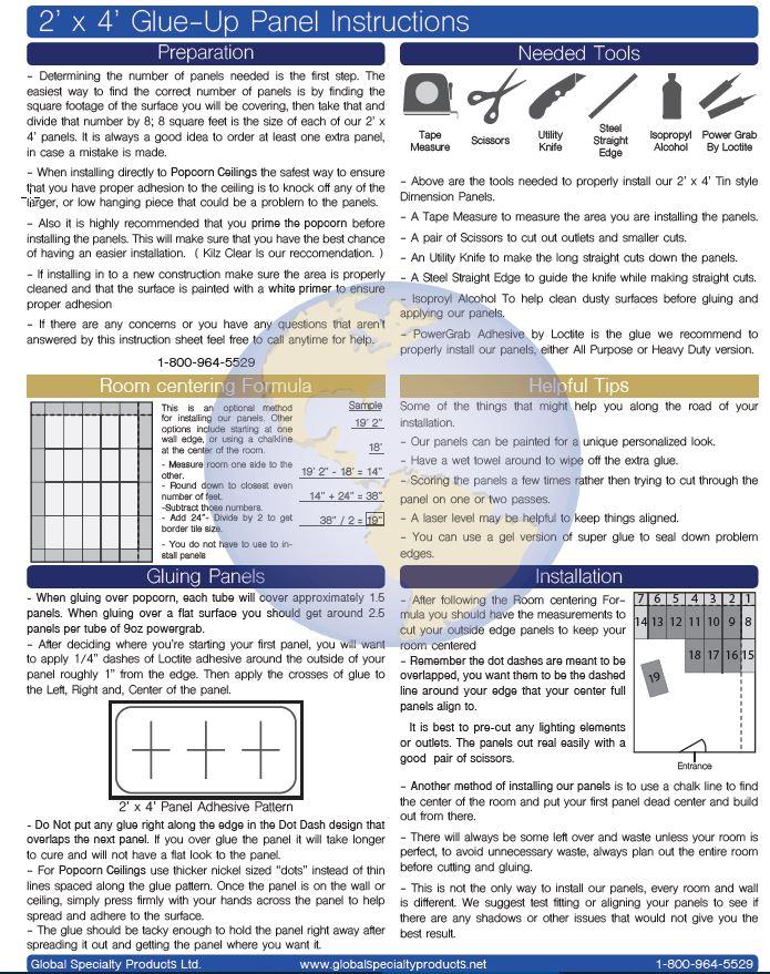 Dimensions faux tin ceiling tile instructions